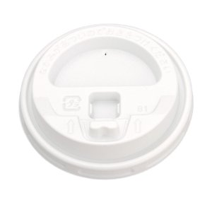 紙コップフタ 日本デキシー ステイオンタブリッド8オンス用 白 100枚|e-cafe