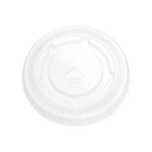 プラスチックコップフタ TAPS78F 8〜10オンス用  ストローリッド 100枚|e-cafe