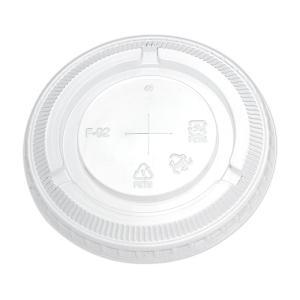 プラスチックカップフタ HONOR9・12オンス兼用ストローリッドF−92  50個|e-cafe