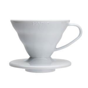 コーヒードリッパー ハリオ V60 透過ドリッパー01 ホワイト VD-01W 1個 e-cafe