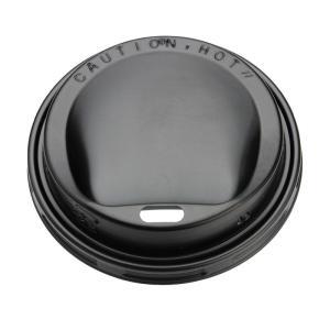 紙コップ蓋 SMT−280−F ドリンキングリッド 黒 トーカン  100個|e-cafe
