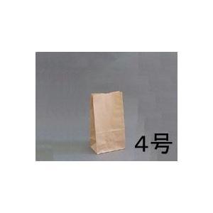 テイクアウト用紙袋 角底袋4号未晒(茶色) 130×85×高さ235mm 500枚|e-cafe