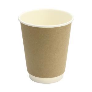 紙コップ 二重断熱カップ 8オンス クラフト 25個