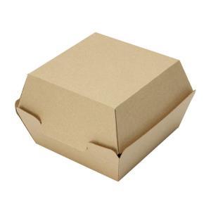 ハンバーガー容器 バーガーカートン(未晒) テイクアウト用クラフトボックス 50個|e-cafe