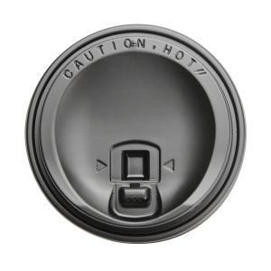 紙コップ蓋 トーカン リフトアップリッド SMT−280−LF 黒 100個|e-cafe