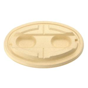 紙製弁当容器 KMPランチ-2 蓋 ナチュラル テイクアウト用 50個|e-cafe