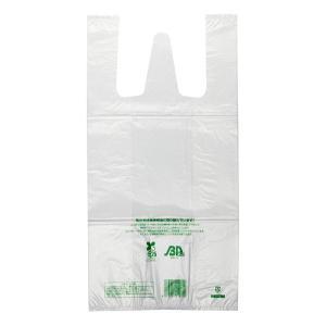 無料配布可 レジ袋 ニューイージーバック バイオ25 Mサイズ 乳白 100枚 e-cafe