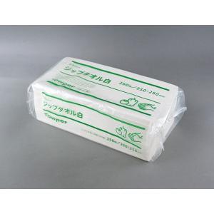 紙タオル トライフ ジップタオル 白 3,750枚|e-cafe