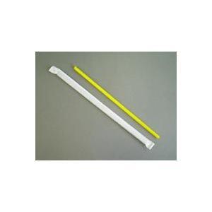 ストローストレート 6x210mm 黄色 袋入 500本|e-cafe