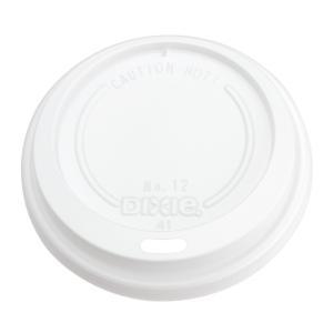 紙コップ蓋 12オンス トラベラーズリッド 白 日本デキシー GLDH12TG  径85mm用 100枚|e-cafe