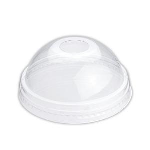 プラスチックカップ蓋 TAPS78D 8〜10オンス兼用ドームリッド(穴有) 100枚|e-cafe