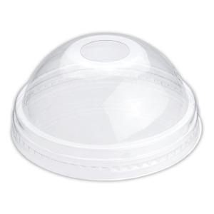 プラスチックカップ蓋 TAPS92D 92Φ用ドームリッド(穴有) 100枚|e-cafe