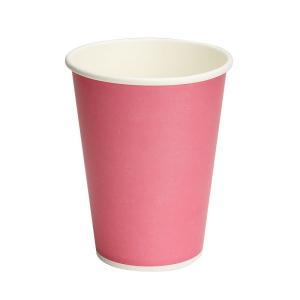 カラー紙コップ 12オンス ピンク 50個|e-cafe