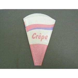 テイクアウト用 クレープ三角袋 #1405822 100枚|e-cafe