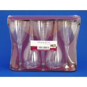 プラスチック クリアワイングラス 10個|e-cafe