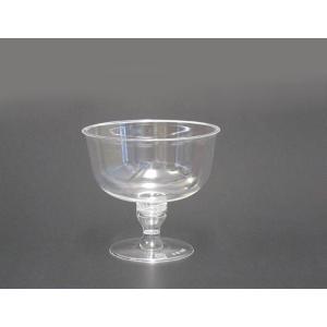 プラスチックワイングラスソーサー型 プロマックス BI-250AC 台座付き 50個セット|e-cafe