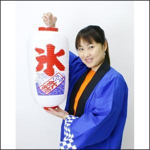 氷 ビニールちょうちん / 提灯・お祭り・縁日・装飾 e-chochin-happi