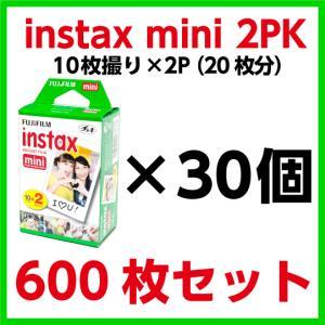 フジフィルム チェキ用フィルム instax mini 2パック品(10枚撮り×2)×30個 600枚分|e-choix