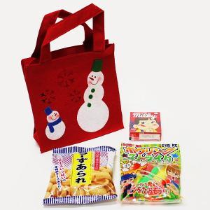 クリスマスおもちゃ・お菓子3点入りバッグ 50個 e-christmas