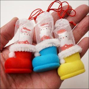 サンタミニブーツ チョコボール入 200個 ブーツ高3cm / クリスマス プレゼント 景品|e-christmas