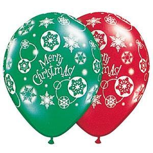 クリスマスゴム風船 クリスマス総柄 28cm 10個