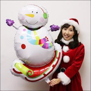 クリスマス風船 ジョイフルスノーマン【バルーン・装飾・ディスプレイ】|e-christmas