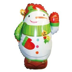 クリスマス装飾風船 ジョリースノーマン 高さ45cm/ 動画有/バルーン 飾り デコレーション|e-christmas
