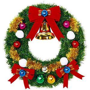 クリスマス装飾 スノーフォールリース 60cm / 飾り付け ディスプレイ デコレーション e-christmas