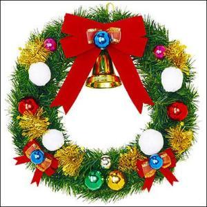 クリスマス装飾 スノーフォールリース 45cm / 飾り付け ディスプレイ デコレーション e-christmas