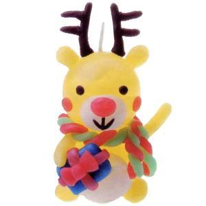 クリスマス手作り工作キット やさしいキャンドル作り トナカイ|e-christmas