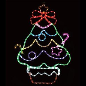 LEDイルミネーション チューブライト ファンシーツリー H90cm / 動画有 e-christmas