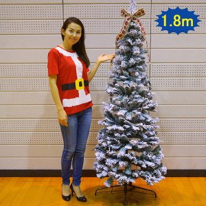 クリスマス装飾 クリスマスLEDフォール スノーツリー 180cm / ディスプレイ 飾り|e-christmas