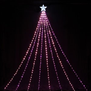 LEDイルミネーション 防滴ナイヤガラライト5mDX ピンク&ベビーピンク 510球 / クリスマス e-christmas