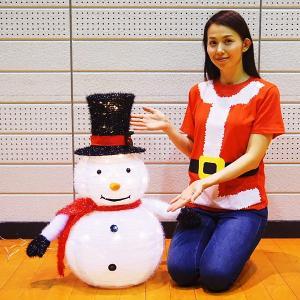 折りたたみデコレーション スノーマン H77cm / イルミネーション クリスマス 装飾 飾り/動画有 e-christmas