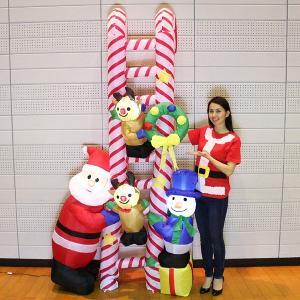 クリスマスエアブロー装飾 クリスマスはしごフレンズ H260cm/動画有|e-christmas