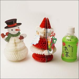 【在庫限り!】サンタとスノーマンのペアハニカム 5組セット(10個) / クリスマス おもちゃ 景品|e-christmas