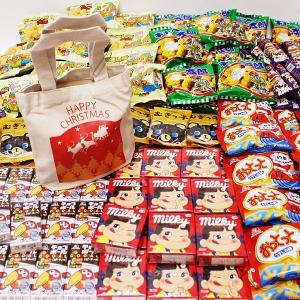 お子様用クリスマスお菓子色々200個セット、XMASトートバック100枚付 e-christmas