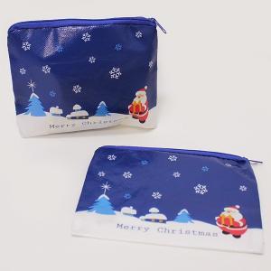 クリスマスプレゼントギフト用 サンタファスナー付ポーチ 50個セット|e-christmas