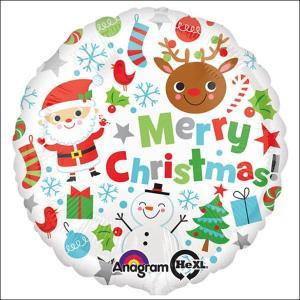 クリスマス風船 メリークリスマスアイコンズ【バルーン・装飾・ディスプレイ】|e-christmas