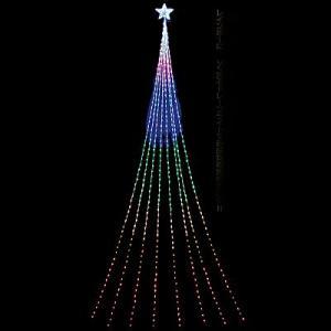 LEDイルミネーション 防滴ナイヤガラスターライト5mDX レインボー510球 / 動画有 e-christmas