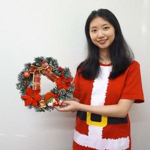クリスマス装飾 デコレーションスノーマンリース 30cm e-christmas