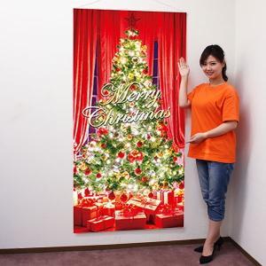 クリスマス装飾 タペストリー エレガンドグリーンツリー 防炎加工|e-christmas