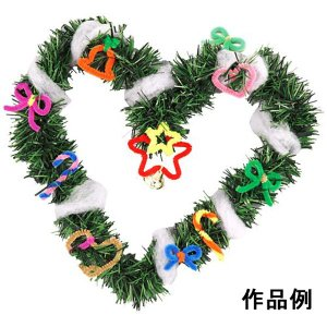 クリスマス手作り工作キット クリスマスリース作り 直径約20cm 1個|e-christmas