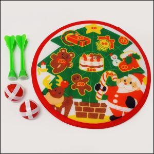 クリスマスパーティダーツ 直径22cm / サンタ 景品 おもちゃ|e-christmas