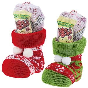 クリスマスお菓子 ニットブーツ 50個 ブーツ高9cm / クリスマス プレゼント 景品|e-christmas