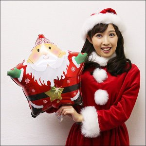 クリスマス装飾風船 サンタスター 45cm 【バルーン・ディスプレイ】|e-christmas