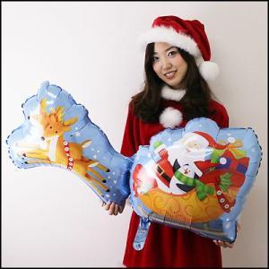 [在庫限り] クリスマス装飾風船 サンタ&ソレイ 【バルーン・ディスプレイ・飾り】|e-christmas