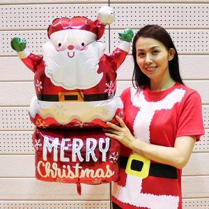クリスマス風船 サンタインチムニー H76cm/バルーン 飾り デコレーション|e-christmas