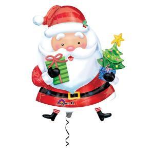 クリスマス装飾風船 サンタ with ツリー H93cm/バルーン 飾り デコレーション|e-christmas
