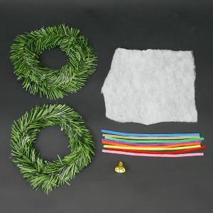 クリスマス手作り工作キット クリスマスリース作り 直径約20cm 10個|e-christmas|03